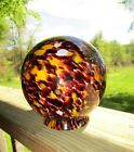 Vintage Art Deco Marked Czech End Of Day Glass Lamp Shade Light Globe