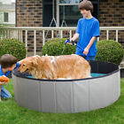 47 Portable Pet Dog Pool Collapsible Bathing Tub Indoor  Outdoor Foldable Pool
