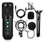 Aiersi PC computer Metal USB studios Microphone kits for streaming recording