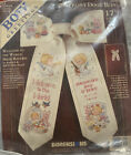 Dimensions Vtg Greeting Front Door Bow Cross Stitch The World Birth Record 17