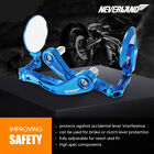 7 8 22mm CNC Blue Brake Clutch Lever Hand Guard Side Bar End Mirrors Protector