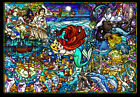 Ten Dsg500 485 Disney Little Mermaid Story Stained Glass 500 Pieces Art Jigsaw
