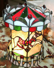 TIFFANY STYLE HORSE CAROUSEL STAINED GLASS TABLE LAMP