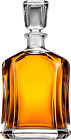Capitol Glass Decanter with Airtight Geometric Stopper Whiskey Decanter for Wi