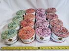 16 Cakes Of Lion Brand Comfy Cotton Blend Yarn 4 Colors Embers Lavender +
