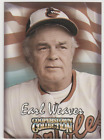 1999 EARL WEAVER Baltimore Orioles Cooperstown Starting Lineup CARD