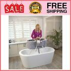 Elevated Folding Dog Bath Tub and Wash Station for Bathing Shower and Gray