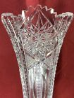 AMERICAN BRILLIANT PERIOD CUT GLASS TRUMPET BUD VASE ABOUT 12 TALL ABP