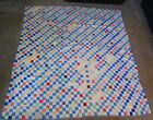 Vintage Hand Stitched Quilt With 1 1 2 Inch Squares 79 X 80 Inches