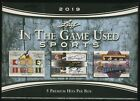 2019 Leaf In The Game Used Sports ITG Factory Sealed HOBBY BOX (5 Premium Hits)