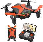 Mini Drone with Camera for KidsBeginners Foldable Pocket RC Quadcopterwith