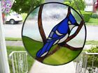 Stained Glass Blue Jay Sun catcher Real Glass