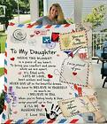Fleece Blanket to My Daughter from Mom Dad You are My Sunshine Blanket Ultra