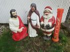 4 Vintage blow mold christmas decorations