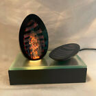 Hand Blown Glass Egg Sculpture with Light box by noted artist Henry Summa