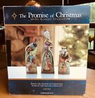 RARE The Promise of Christmas by Robert Stanley Carved Nativity 3 Wise Men