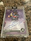 2021 Topps Now Road to Opening Day RONALD ACUNA JR AUTOGRAPH AUTO 22 25