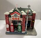 Collectable SearsRoebuck Lemax Harvest Crossing Al's Gas Station Lighted Village