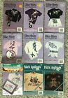 VTG Cute Loot Glitzy Shirts  Whats New LOT of 9 Iron On Applique Kits Fabric