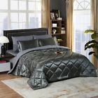 Silky Satin Comforter Set 8 Pieces Bed in A Bag Soft Luxury Quilted Bedding Sets