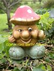 NEW RUBBER LATEX MOULD MOULDS MOLD TO MAKE GARDEN CONCRETE CRAZY TOADSTOOL MAN