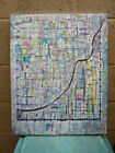 A STEEP LEARNING CURVE new original abstract 16x20 oil painting signed Crowell