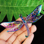 20pcs 78x45x3mm Rainbow Plated Carved Tibetan Silver Dragonfly Pendant Bead