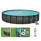 Summer Waves P4A024521 24ft x 52in Above Ground Round Frame Swimming Pool Set