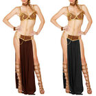 Women Girl Sexy Princess Leia Slave Miss Manners Outfit Fancy Dress Costume+H US