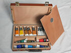 Winsor  Newton Artist Box With 14 Artisan Water Mixable Oil Colour Paints VGC