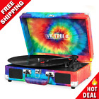 Record Player 3 Speed Turntable Bluetooth Portable Suitcase w Stereo Speakers