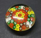 Vintage 1930s Chinese Millefiori Small Glass Paperweight 325x325x15