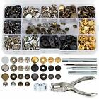 146 Set Snap Fasteners Kit + Leather Rivets Snap Buttons Press Studs Double