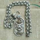 A Rare Set of Chinese Miao Tibetan Silver Crown lion Head Necklace
