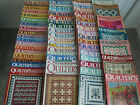 LARGE lot of 59 vintage QUILTERS NEWSLETTER Magazines VGC 1986 1999