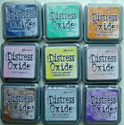 LOT OF 9 Tim Holtz DISTRESS OXIDE Ranger Ink Pads ASSORTED COLORS Brand NEW