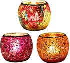 3 Pack Glass Votive Candle Holders Votive Candles and Tealight Bowl Tea Light