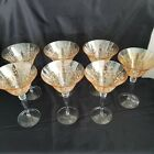 7 fostoria yellow elegant crystal champagne glass collectible