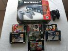 N64 Console & 7 Boxed Games