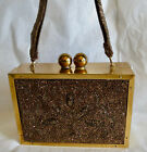 Vintage 1940s Purse Glass Beaded Box Style