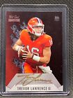 Trevor Lawrence 2021 Wild Card Matte Red Hot Rookie Gold Ink Auto 2 3 RC sb