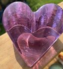 Fire and Light lavender recycled glass heart
