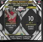2015 Topps Chrome Football EXCLUSIVE Factory Sealed 14 Pack MEGA Box-RC RELIC