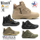 Mens Army Military Combat Boots Jungle Lace Up Ankle Hiking Tactical Work Shoes