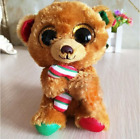 Ty Beanie Boos Stuffed & Plush Animal little Brown Bear Toy Doll With Tag 15cm