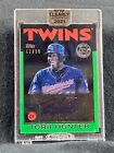 2021 CLEARLY AUTHENTIC TORII HUNTER AUTO GREEN 47 99 TWINS  cb
