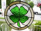 Stained Glass Lucky Shamrock Sun catcher Real Glass