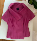 Silk Fuchsia Magaschoni Collection Jacket Top M With Belt