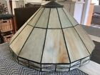 Vintage Art  Craft Mission Stained Slag Glass Lamp Shade 17