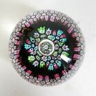 Vintage Caithness glass Reflections paperweight CG cane William Manson